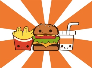 Orange junk food