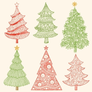 christmas tree drawings